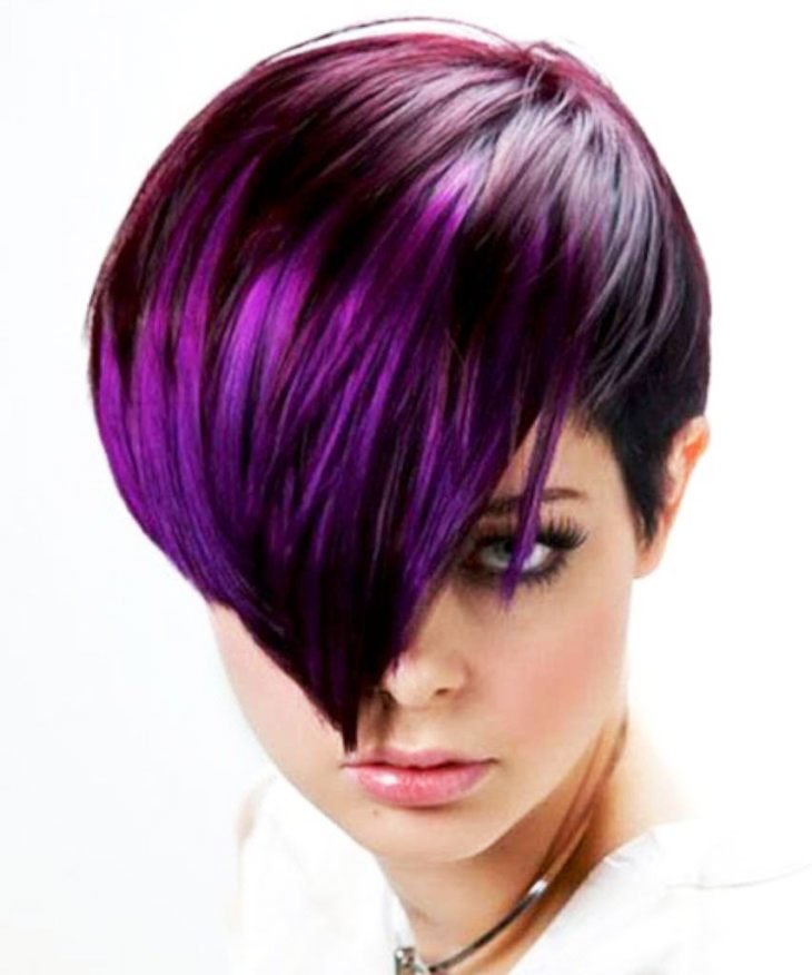 Lilac Ombre - 19-Awesome-Medium-Length-Purple-Hair-Highlights-In-Blonde-Hair