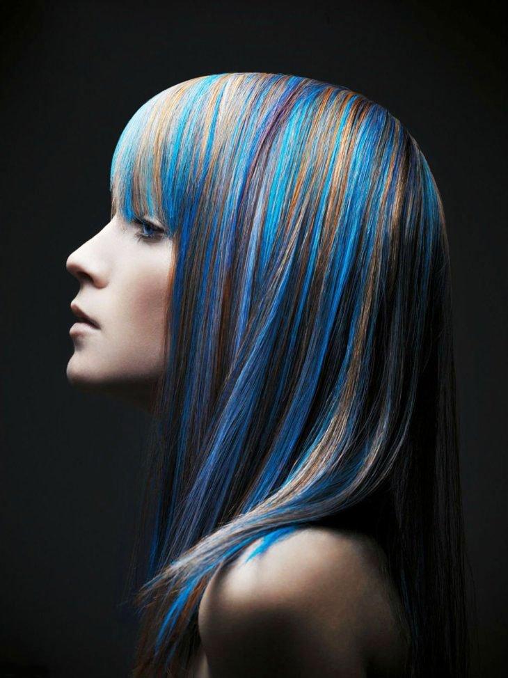 19 Awesome Medium Length Purple Hair Highlights In Blonde Hair 1