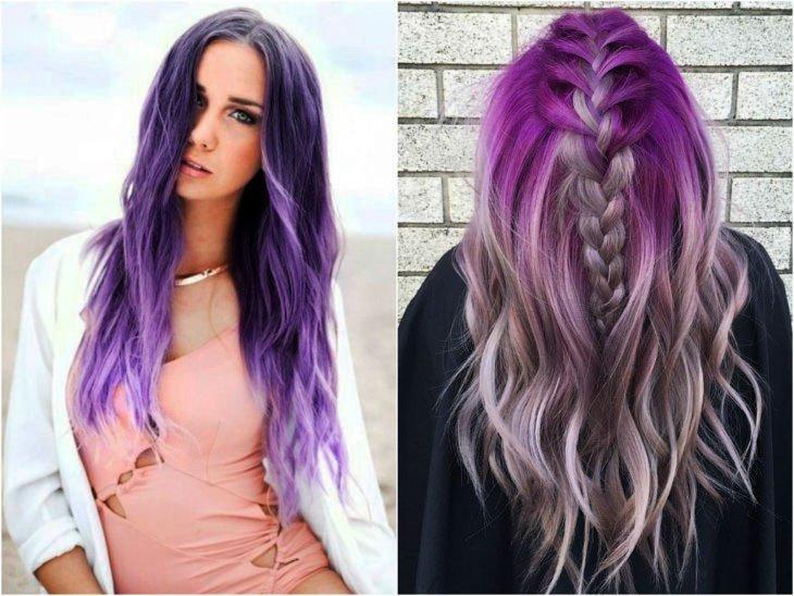 Purple Hair Highlights In Blonde Hair