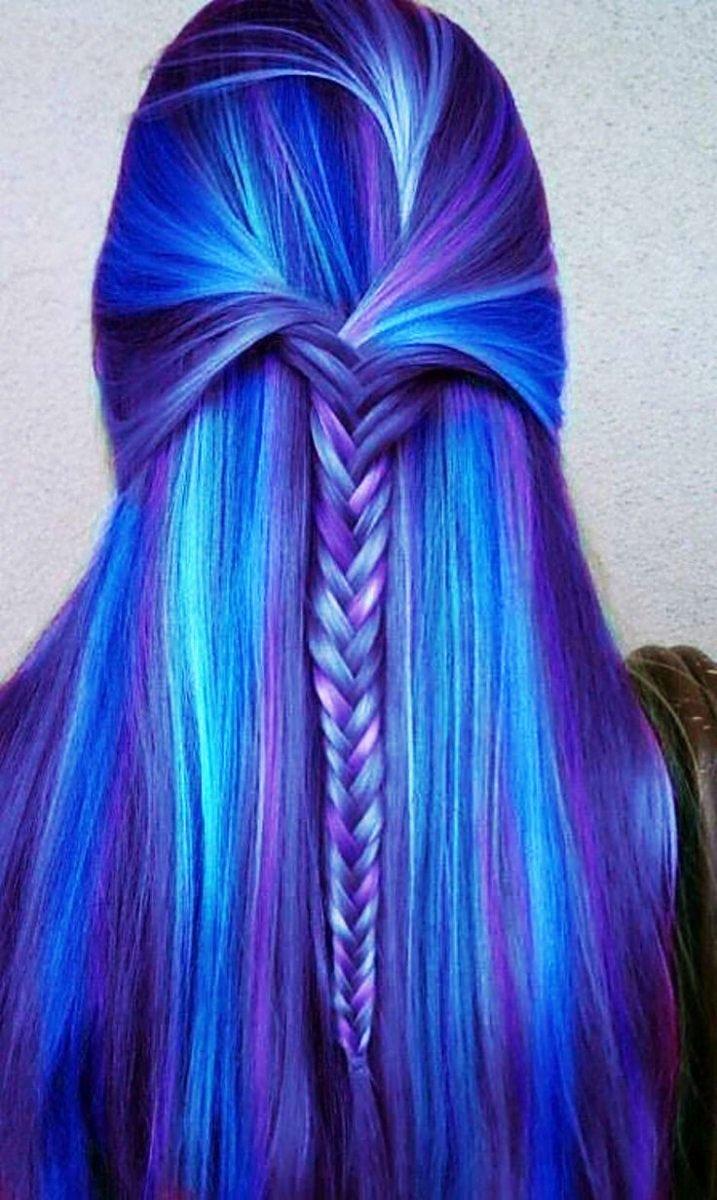 On Long Hair - 19-Awesome-Medium-Length-Purple-Hair-Highlights-In-Blonde-Hair