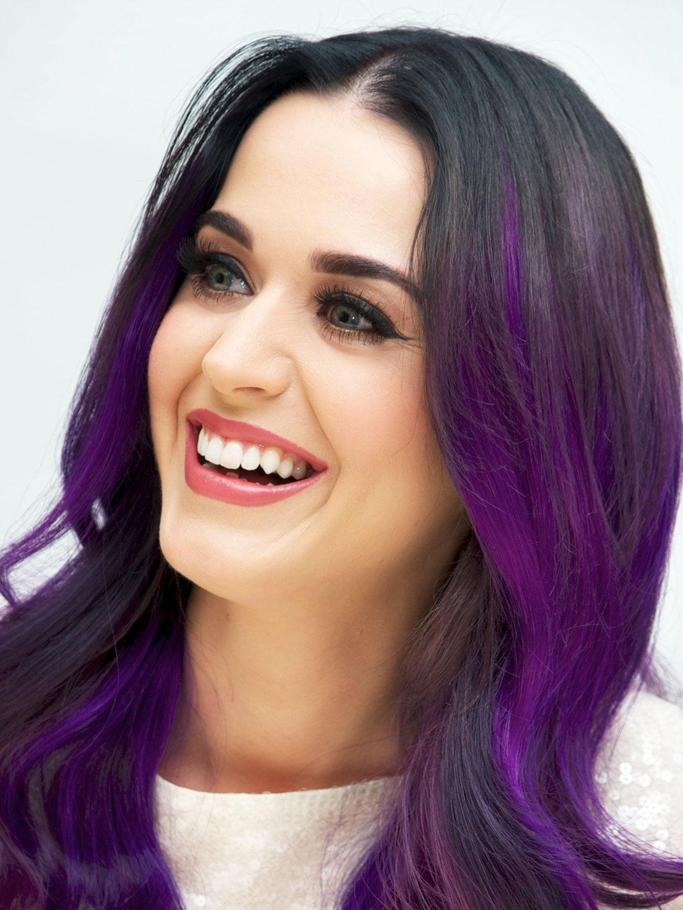 19 Medium Length Purple Hair Highlights In Blonde Hair