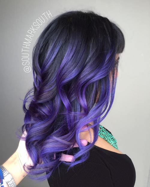 8-pastel-purple-balayage-for-black-hair