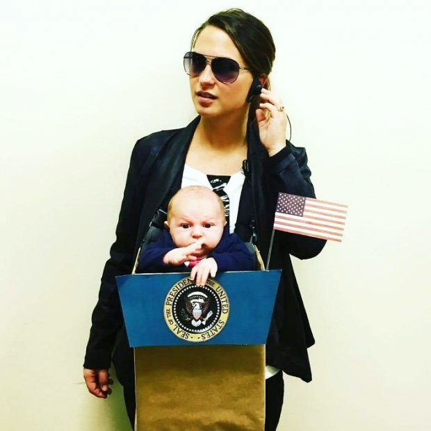 Bodyguard - Halloween costume for mom and baby (Creative Halloween Costumes Ideas)