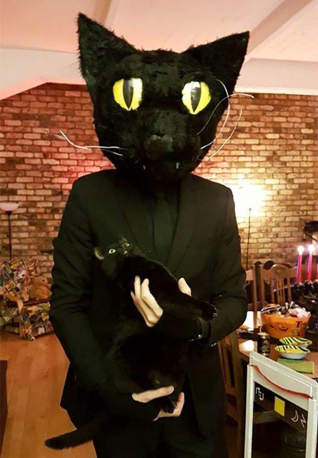 Cat and cat - the original idea of a halloween costume