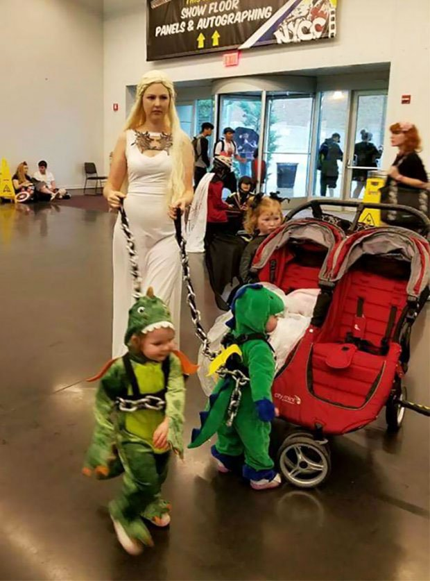 Daineris and her dragons are a witty idea of the costume