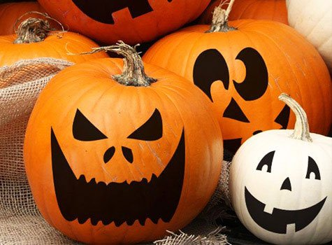 Draw the faces of such pumpkins need water-resistant colors of technical purpose