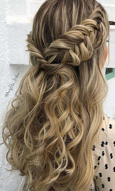 Elegant-Boho-Braid-Homecoming-Hairstyle