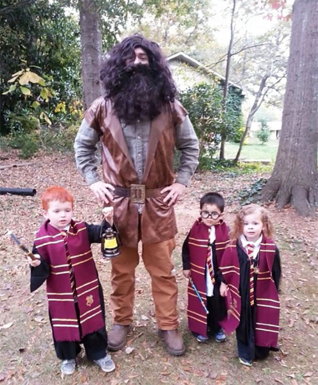 Hagrid with wizards - Halloween 2018 costume for children
