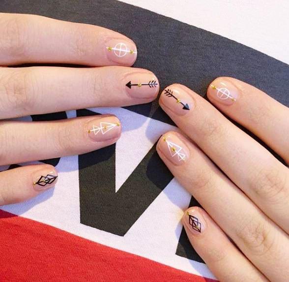 Manimal In Style Minimalismfor Short Nails