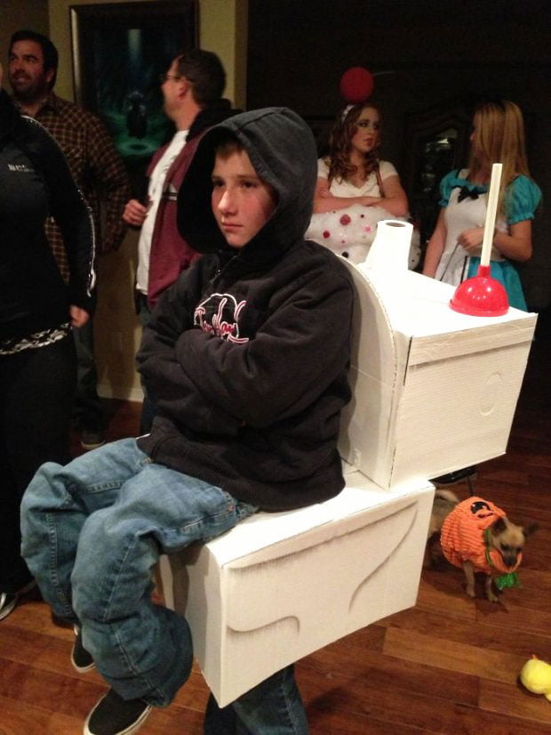 Portable toilet - Halloween costume for those who have a sense of humor
