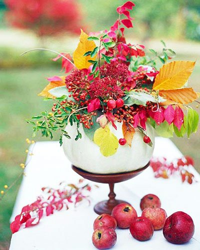 You need only desire, inspiration, and improvised materials from the garden, vegetable garden, or supermarket - Thanksgiving Decorations For Home