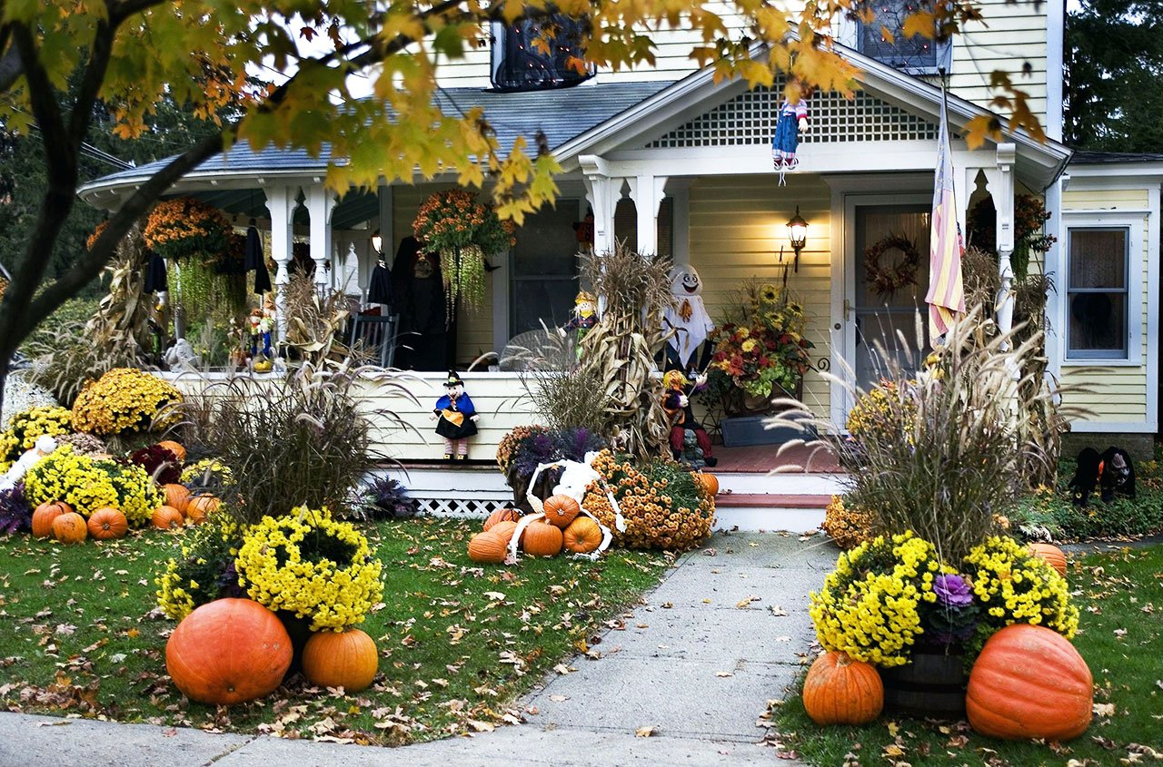 Your home, decorated for Thanksgiving