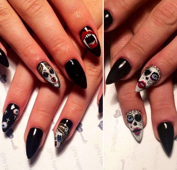 51 Cool Ideas Of Halloween Nail Art Designs 1