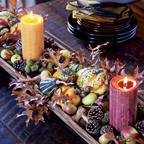 decorate them with dried orange wedges or wrap them in leaves, flowers, twigs, and berries - Thanksgiving Decorations For Home