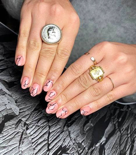 gel nail designs french tip