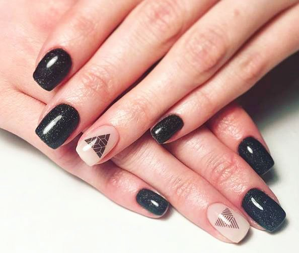 gel nail ideas for winter