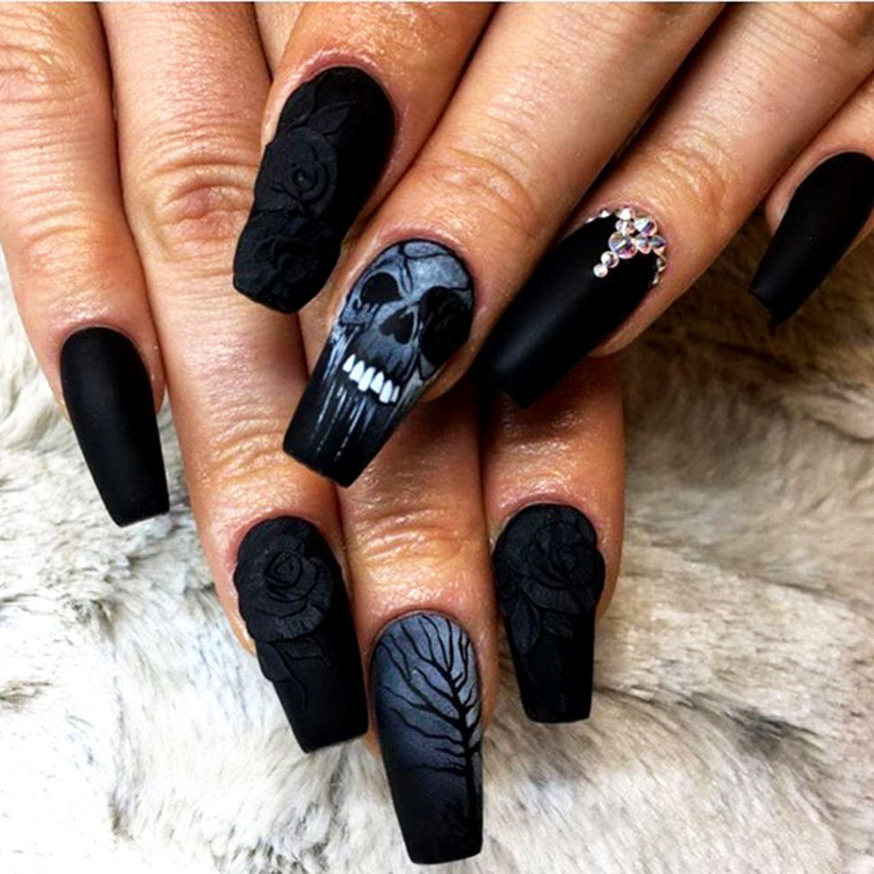 halloween fake nails