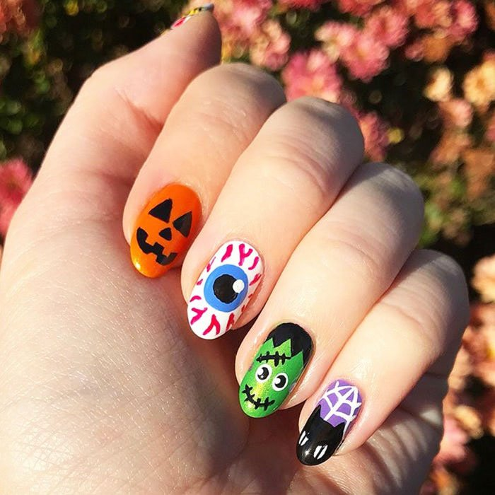halloween nails simple