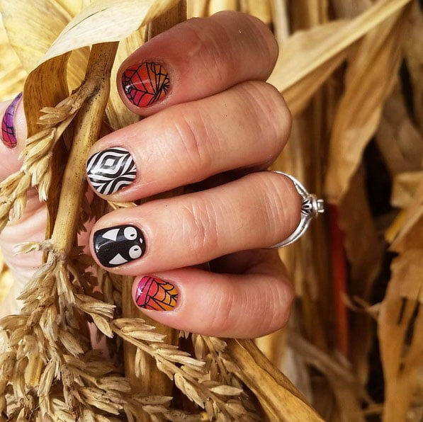 halloween press on nails