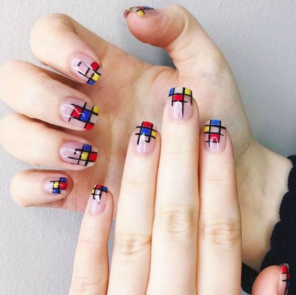 hard gel nail designs