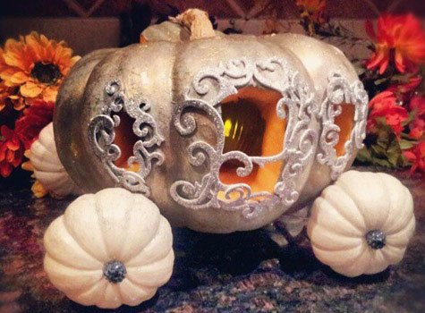 how the beautiful Fairy Godmother turned a pumpkin into a carriage for Cinderella