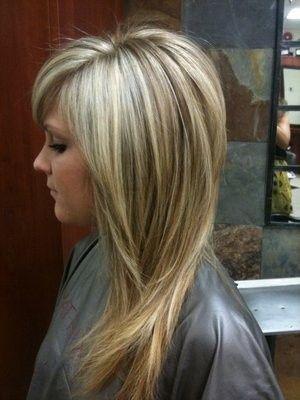 lob haircut for long hair female