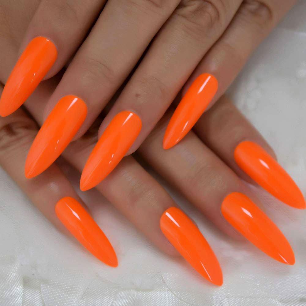 orange long nail