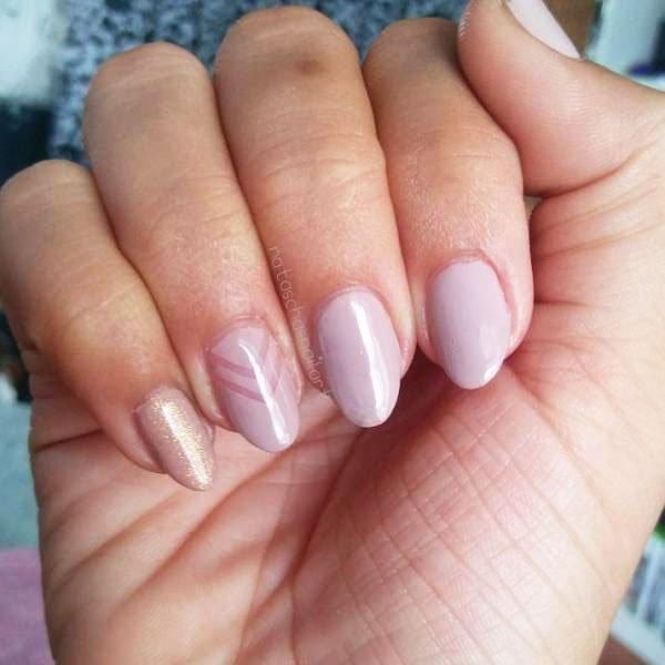 plain gel nails