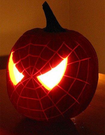 pumpkin - Spiderman. A very organic image for Halloween