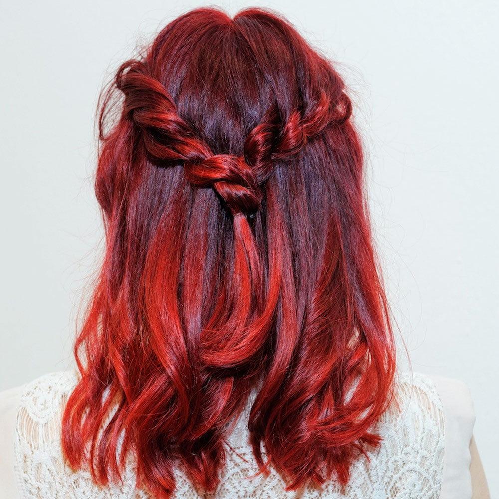 red-hair-dye-live-colour - Blonde Highlights On Black Hair