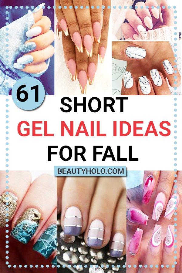 short gel nail ideas for fall