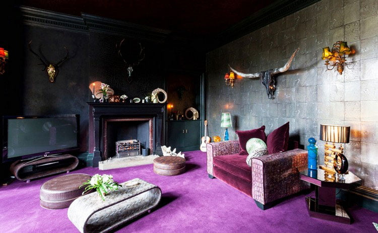 the right dark shades for the design of the living room