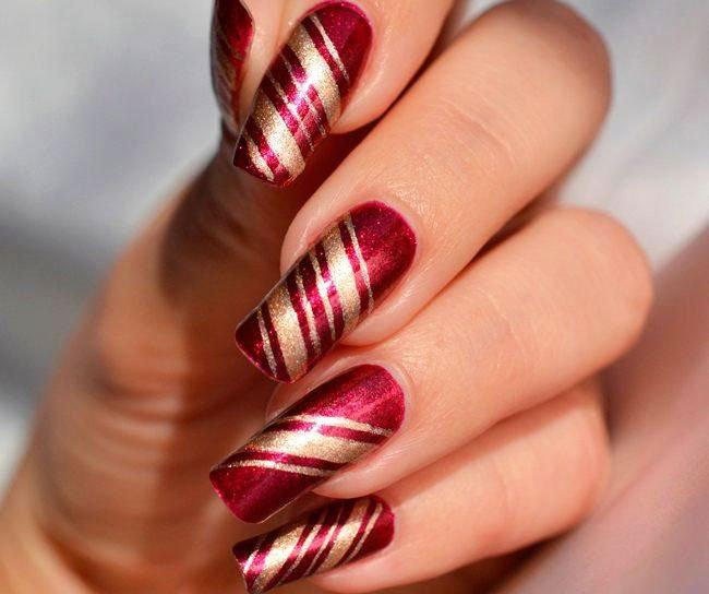 Christmas Trees On Nails - Christmas Nails Ideas