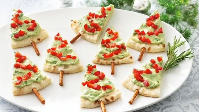 New Year's Christmas Trees From Pita Bread Snacks - Snacks For New Year