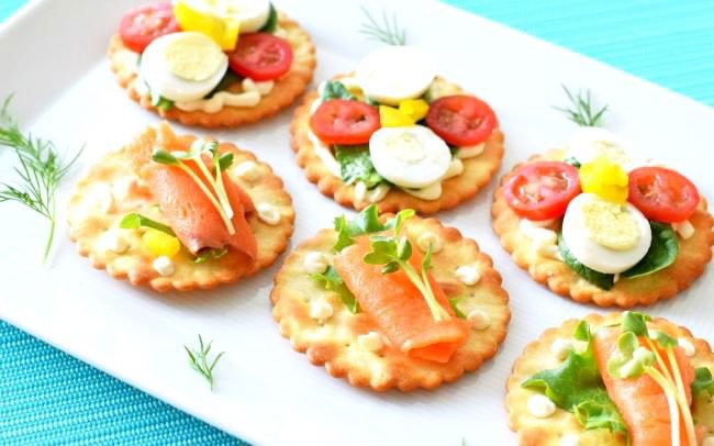 Sandwiches And Canapes Snacks For New Year