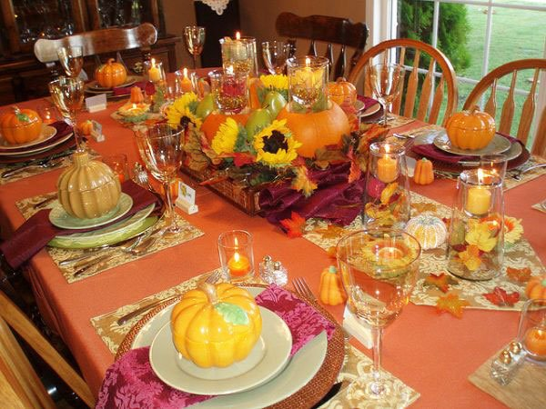 33 Simple DIY Thanksgiving Dinner Table Centerpieces 1