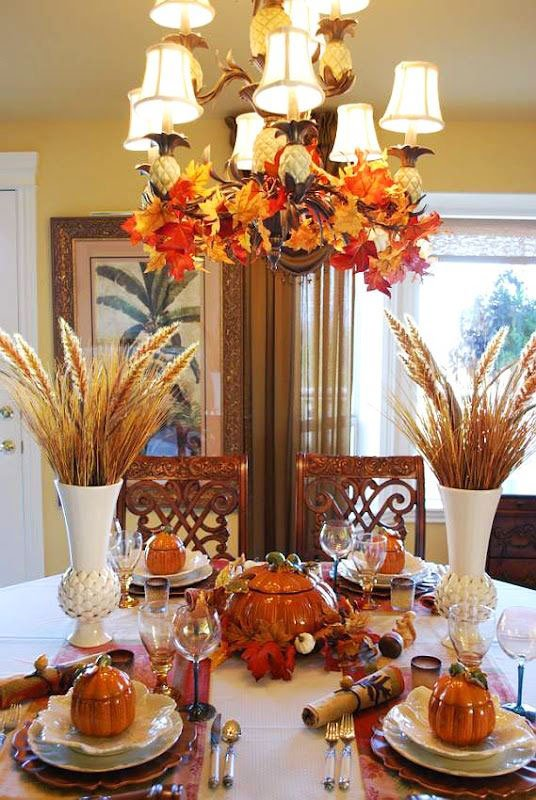 33 Simple DIY Thanksgiving Dinner Table Centerpieces 4