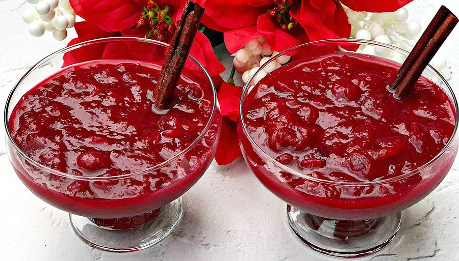 Cranberry sauce - Thanksgiving Vegetable Side Dishes
