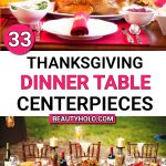 simple DIY thanksgiving dinner table centerpieces