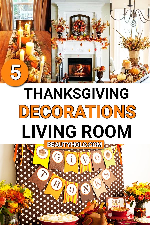 thanksgiving decorations for living room