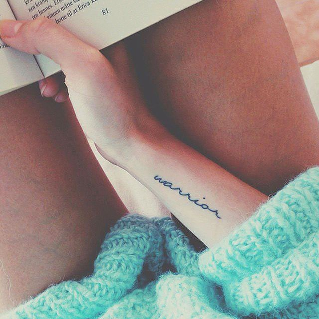 Beautifully looked on the wrist mini tattoos in the form of various inscriptions - 37 Small Delicate Female Tattoos Ideas