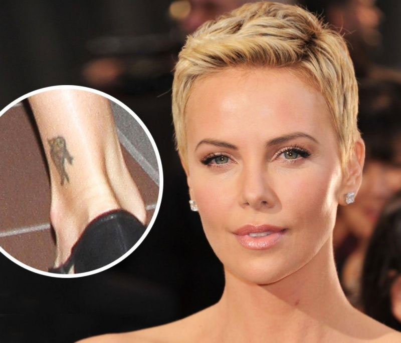 Charlize Theron - Small Delicate Female Tattoos Ideas