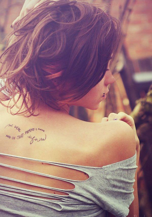 Examples of beautiful little tattoos for girls on the back - 37 Small Delicate Female Tattoos Ideas