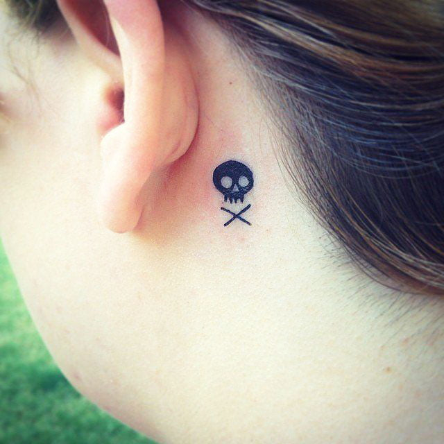 Examples of beautiful little tattoos, the placement of tattoos on the ears - 37 Small Delicate Female Tattoos Ideas