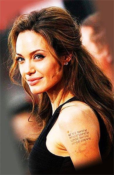 Angelina Jolie - Best Cute Tattoos
