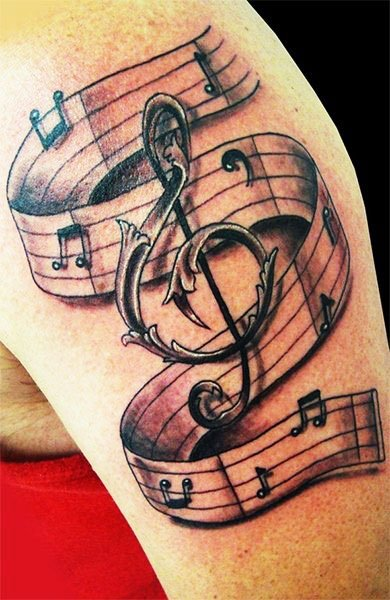 Tattoos Related To Music - Best Cute Tattoos
