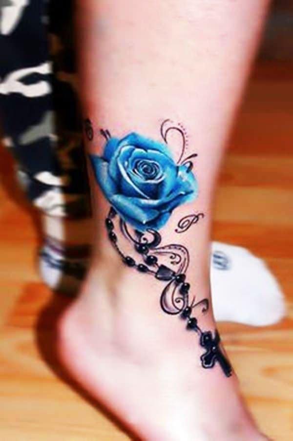 Rose Tattoo - 41 Best Small Flower Tattoos For Women