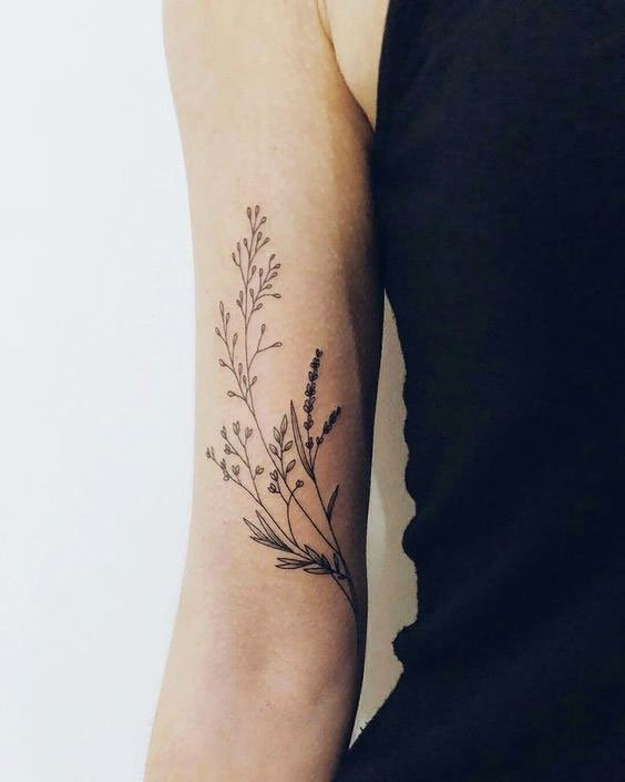 Thin And Neat Flowers - 41 Best Small Flower Tattoos For Women