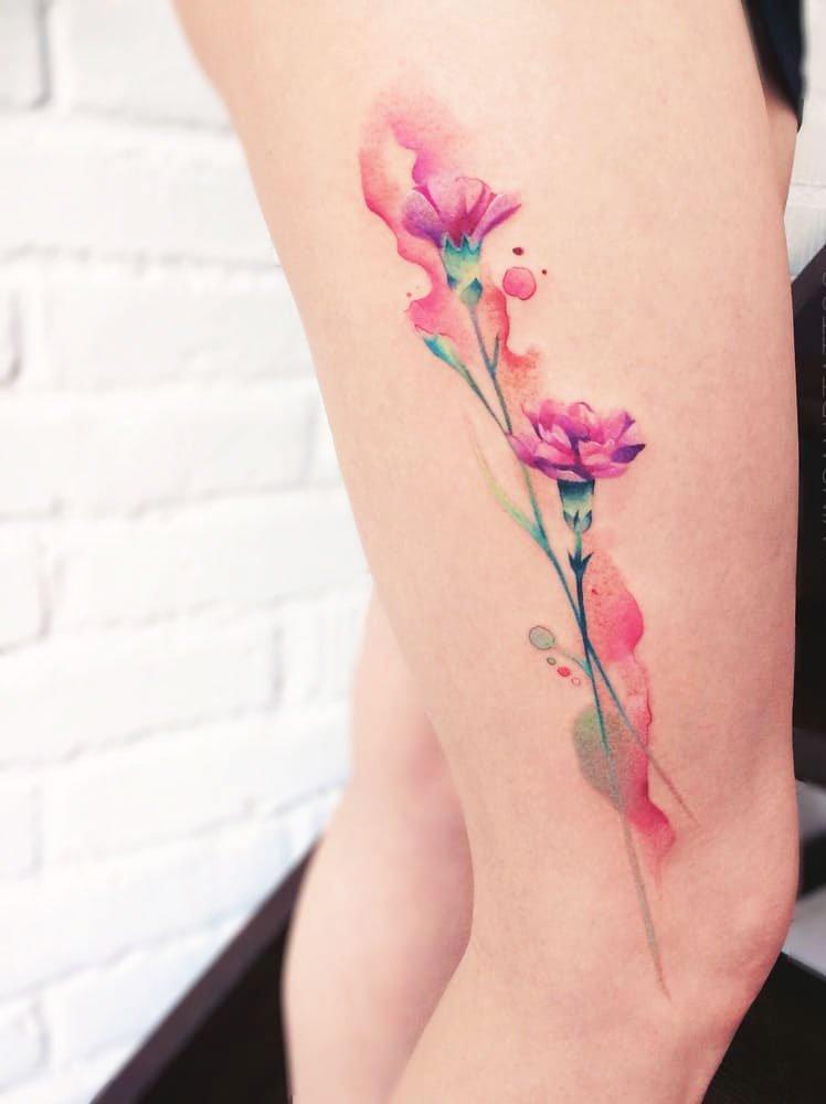 A Sakura Tattoo - 41 Best Small Flower Tattoos For Women