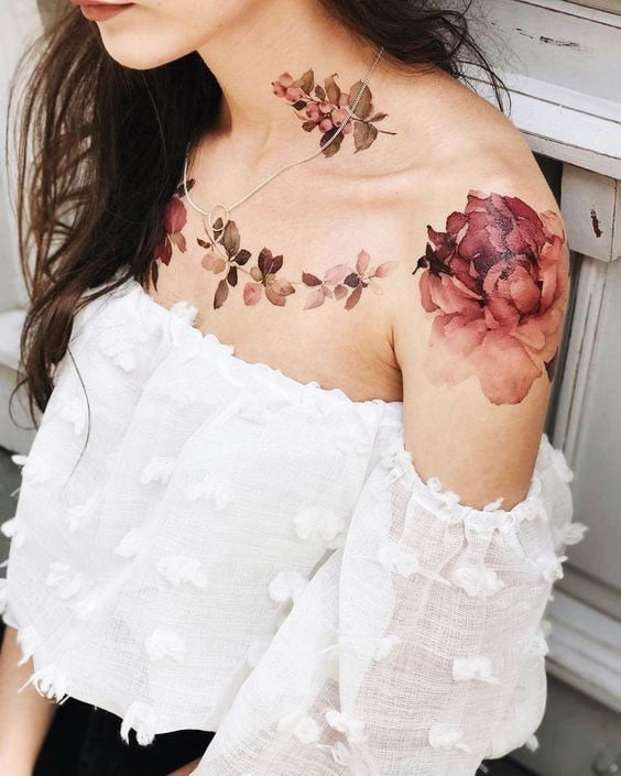 Large Floral Tattoos - 41 Best Small Flower Tattoos For Women